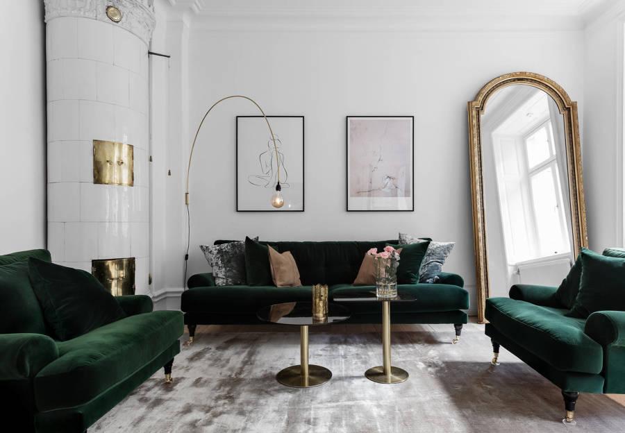 Divani Velluto Pulire : Divani e poltrone di velluto un tocco vintage in salone