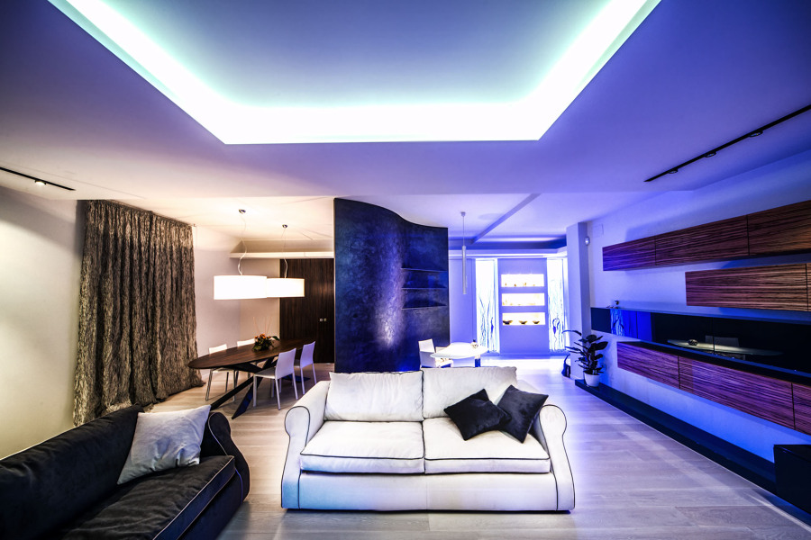 Salotto open space idee per il design della casa - Open space casa ...