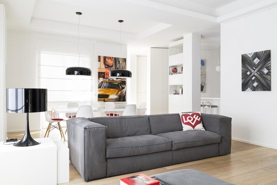 Foto salotto open space con cucina di rossella cristofaro 503110 habitissimo - Open space cucina salotto ...