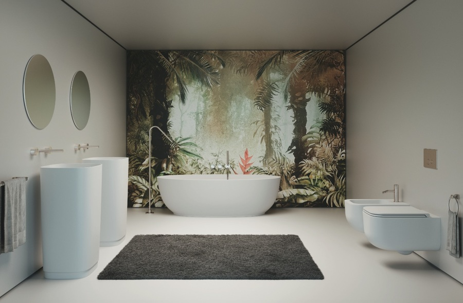 Sanitari bagno in solid surface