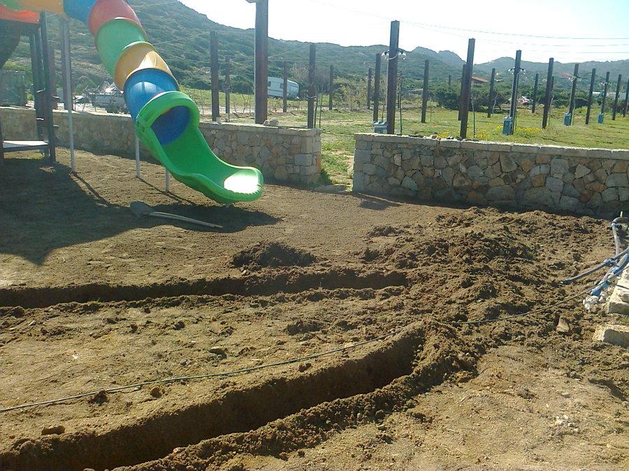 scavi delle linee di irrigazione