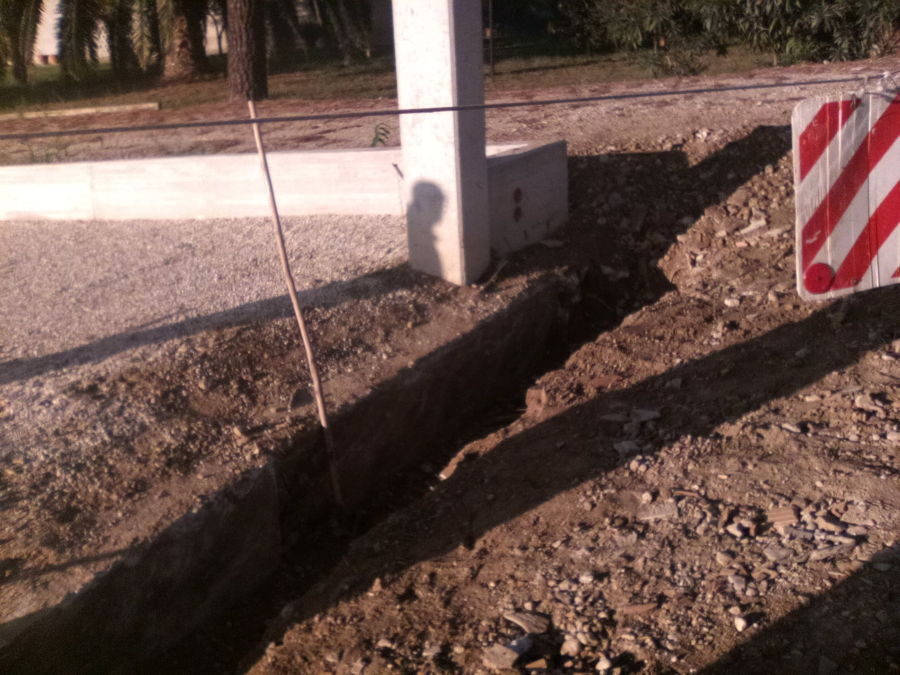 scavo per il trave