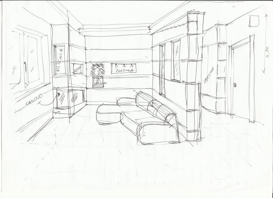 Foto schizzo di progetto di studio tecnico giordano - Progetto casa pescara ...