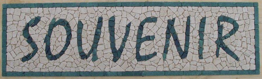 Scritta in mosaico