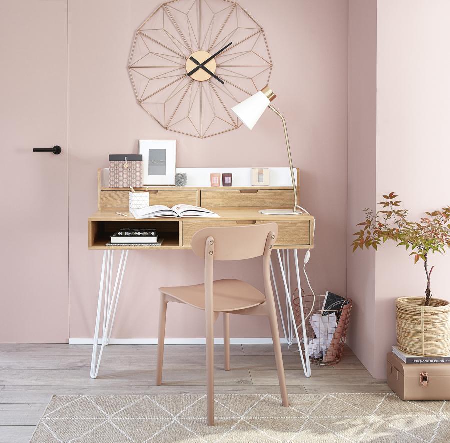 scrivania legno con cassetti