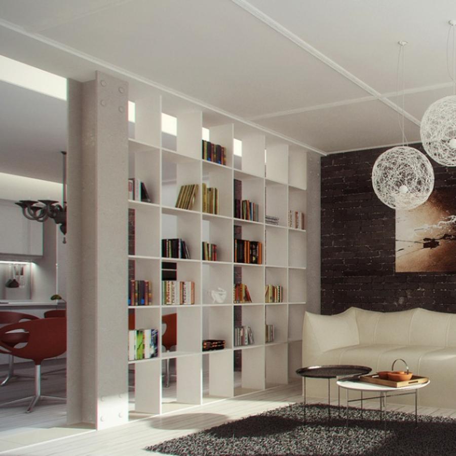 Aumenta lo spazio di casa con 5 divisori idee interior - Sala e cucina ...