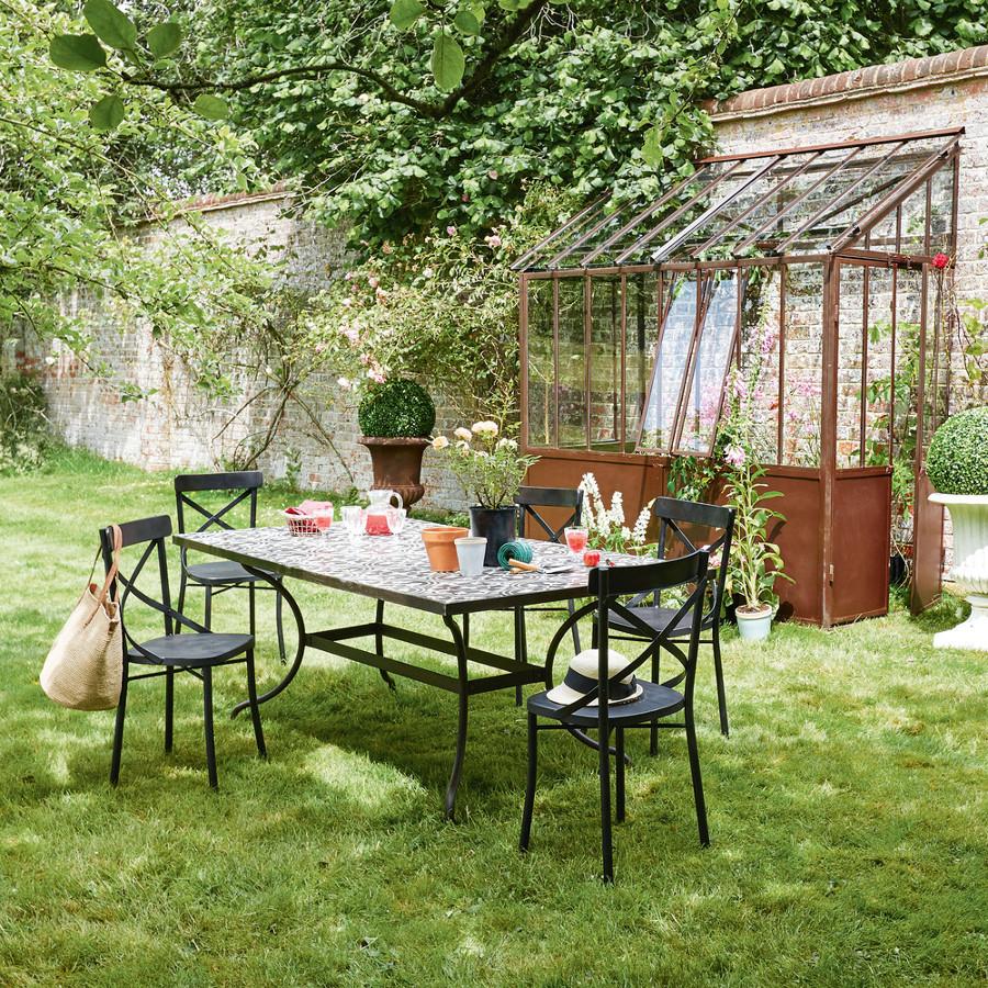 Serra per giardino in metallo e vetro
