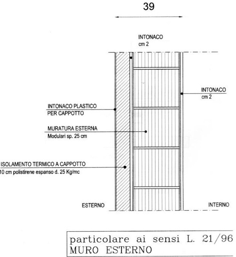 Foto sezione muro di rampazzo marco 75367 habitissimo - Spessore intonaco interno ...