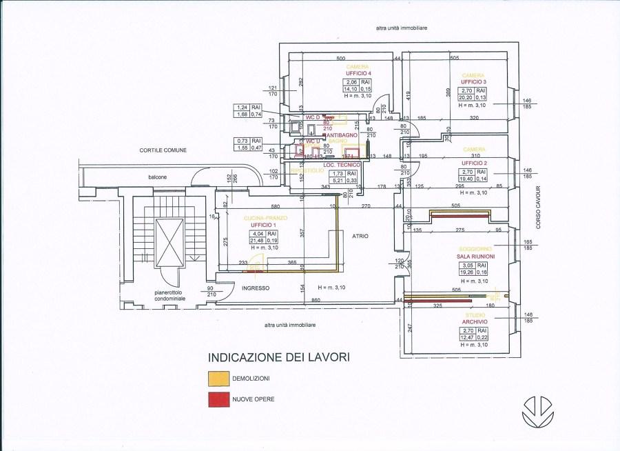Sistemazione appartamento/ufficio in Novara.