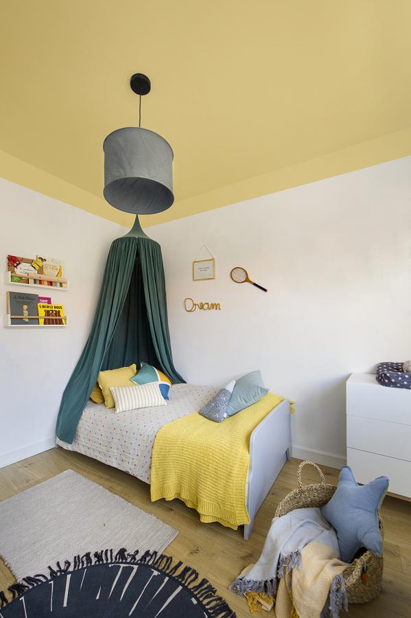soffitto giallo cameretta