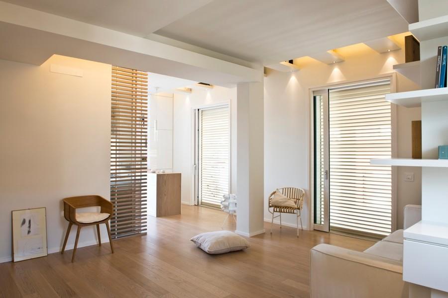Spazi flessibili per un attico di 70 mq idee for Idee bagno in cabina