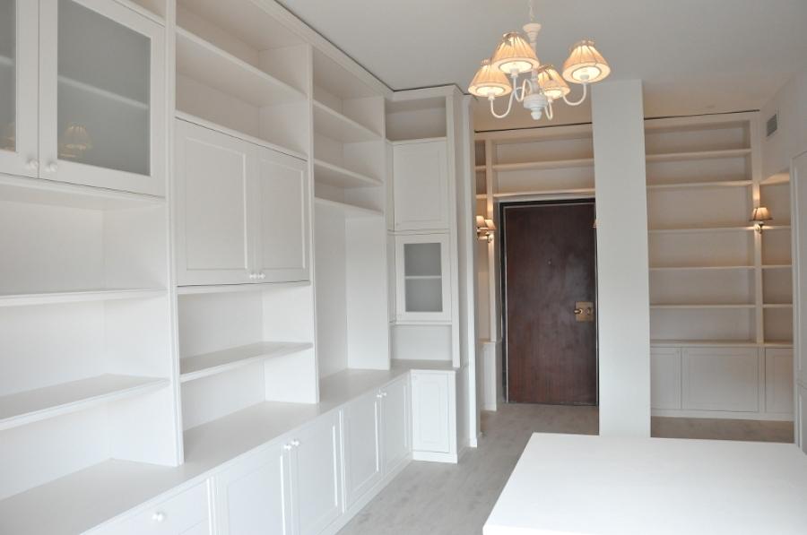 Progetto Soggiorno con Biblioteca  Idee Ristrutturazione Casa