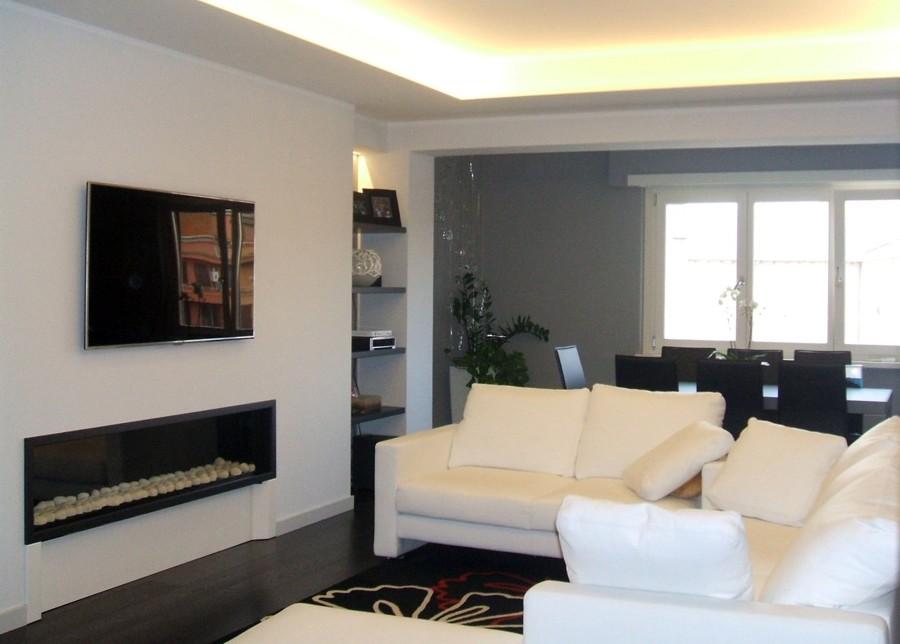 Arredo Soggiorno Moderno Con Camino ~ Idee per il design della casa
