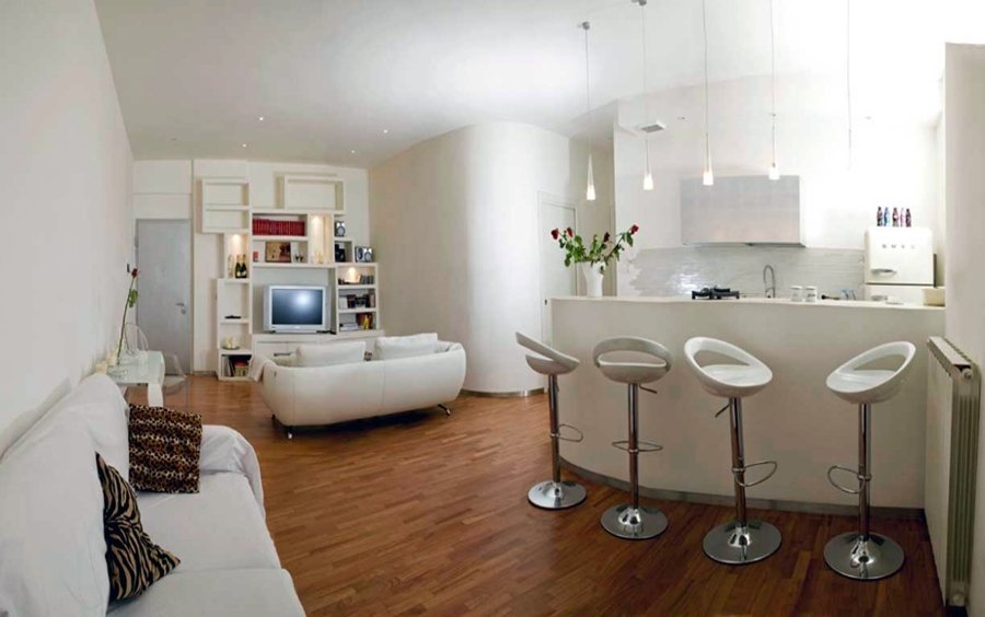 Progetto ristrutturazione appartamento idee ristrutturazione casa - Idee per arredare soggiorno con angolo cottura ...