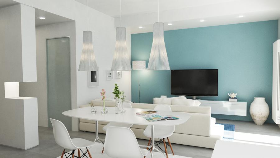 Foto soggiorno moderno ristrutturazione appartamento for Foto living moderni