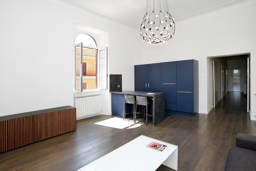 Foto soggiorno vista dell 39 angolo cottura di design for Piani di progettazione dell angolo cottura