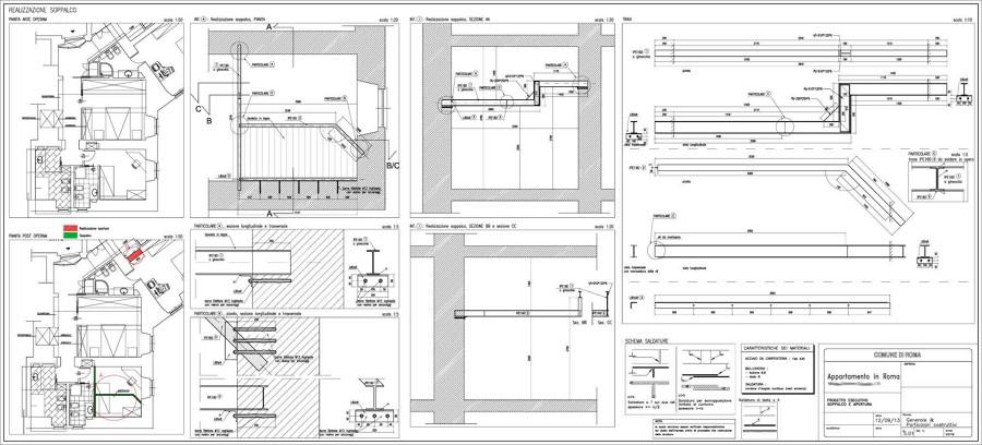 Foto soppalco metallico di architettura ingegneria for Progetto ristrutturazione casa gratis