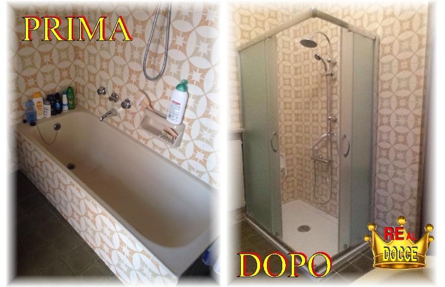 Trasformazione da vasca in doccia da euro 1890 piu 39 iva idee ristrutturazione bagni - Sostituzione vasca in doccia ...