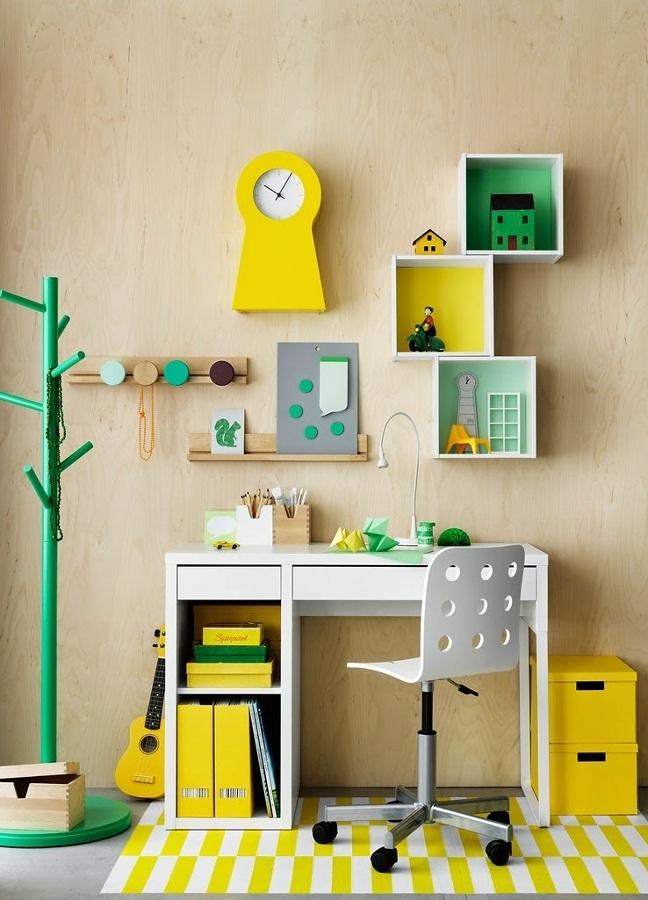 Foto spazio per studiare nella camera dei bambini di - Studiare interior design ...