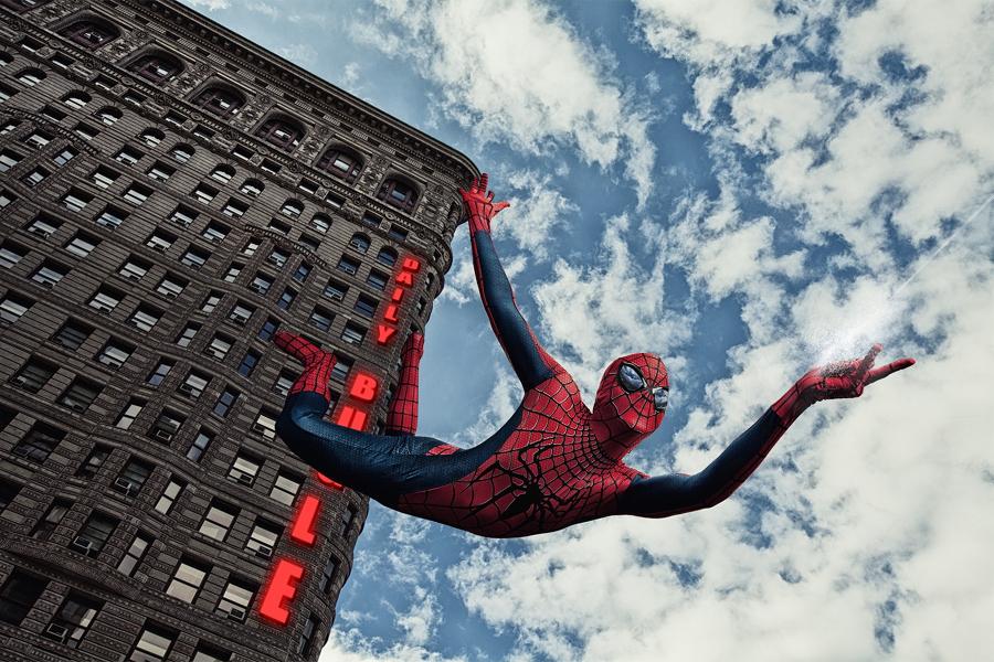 spiderman edificio flatiron