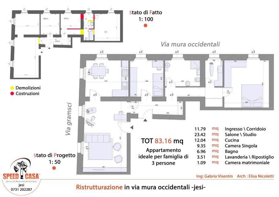 Progetto ristrutturazione appartamento zs32 regardsdefemmes for Idee appartamento