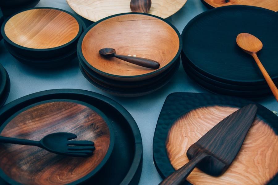 stoviglie in legno