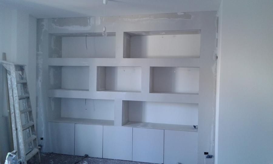Stuccatura libreria