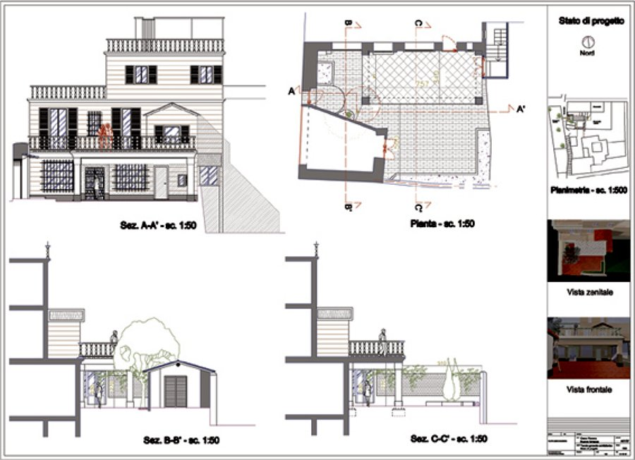 Foto tavola di progetto di officina d 39 architettura e for Disegno di piano piano di 2 camere da letto