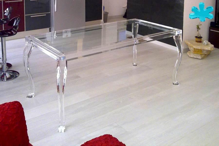 Tavoli da pranzo in plexiglass trasparente a 4 gambe for Amazon tavoli da pranzo