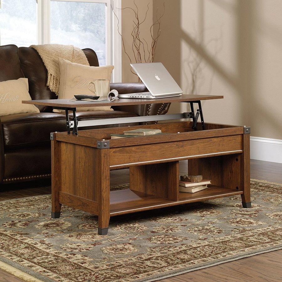 Tavolino da salotto che si trasforma in scrivania