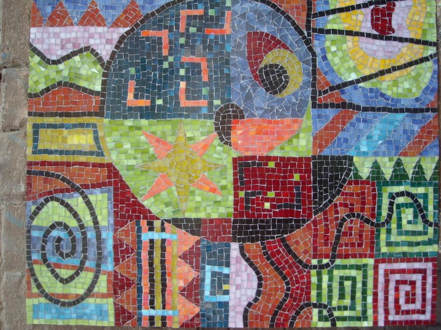Vetrate artistiche e mosaico di vetro idee vetrai - Tavolo giardino mosaico prezzi ...