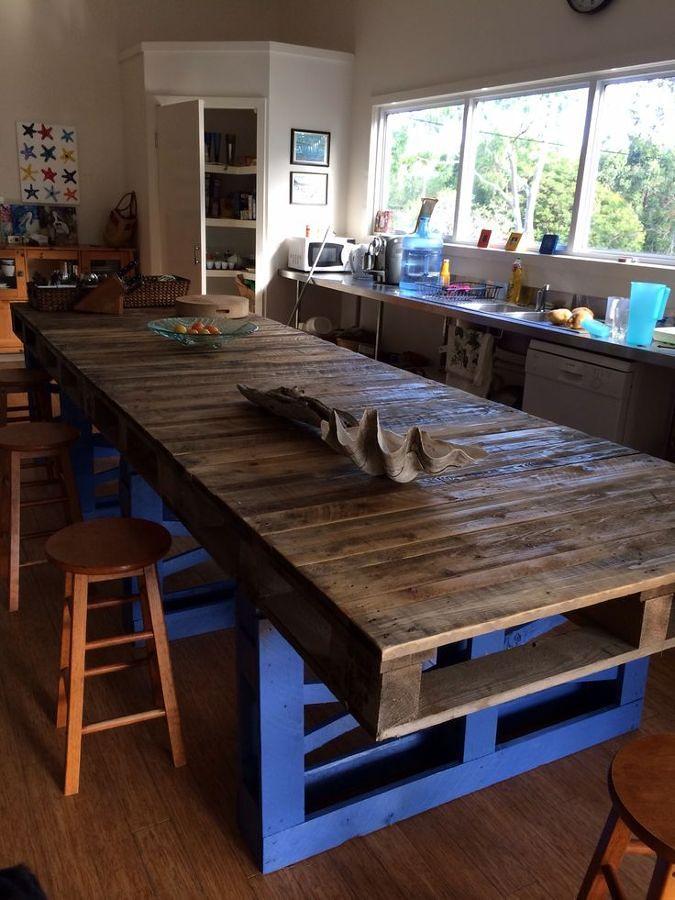Souvent Foto: Tavolo con Bancali Riciclati di Valeria Del Treste #329556  DX07