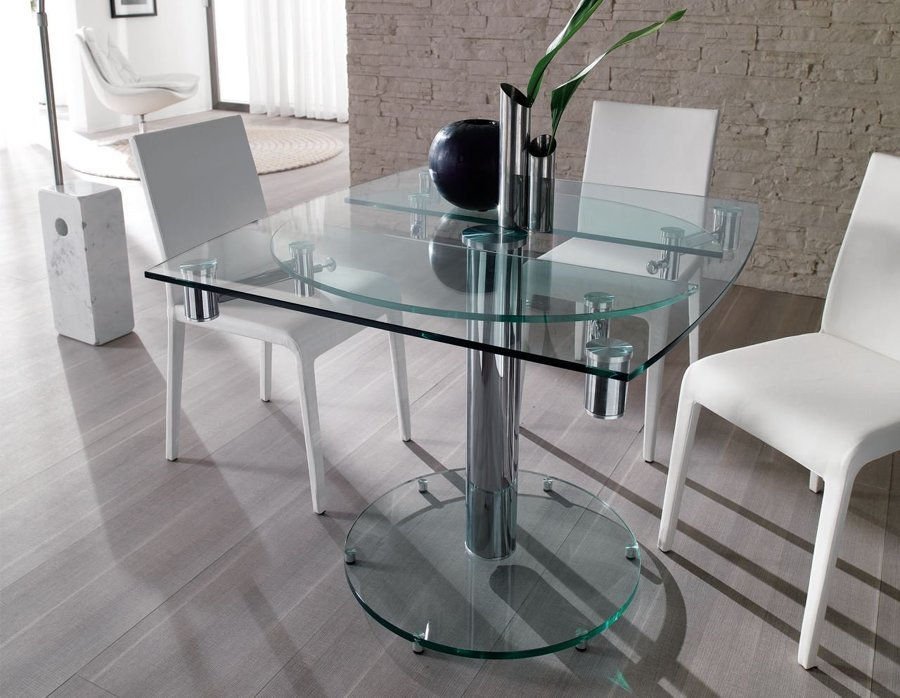 Tavoli in vetro quando e come sceglierli idee mobili for Tavoli in cristallo allungabili