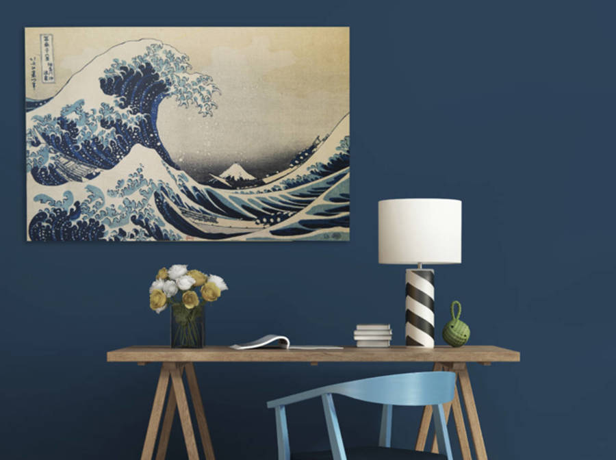 Tela con riproduzione opera Hokusai