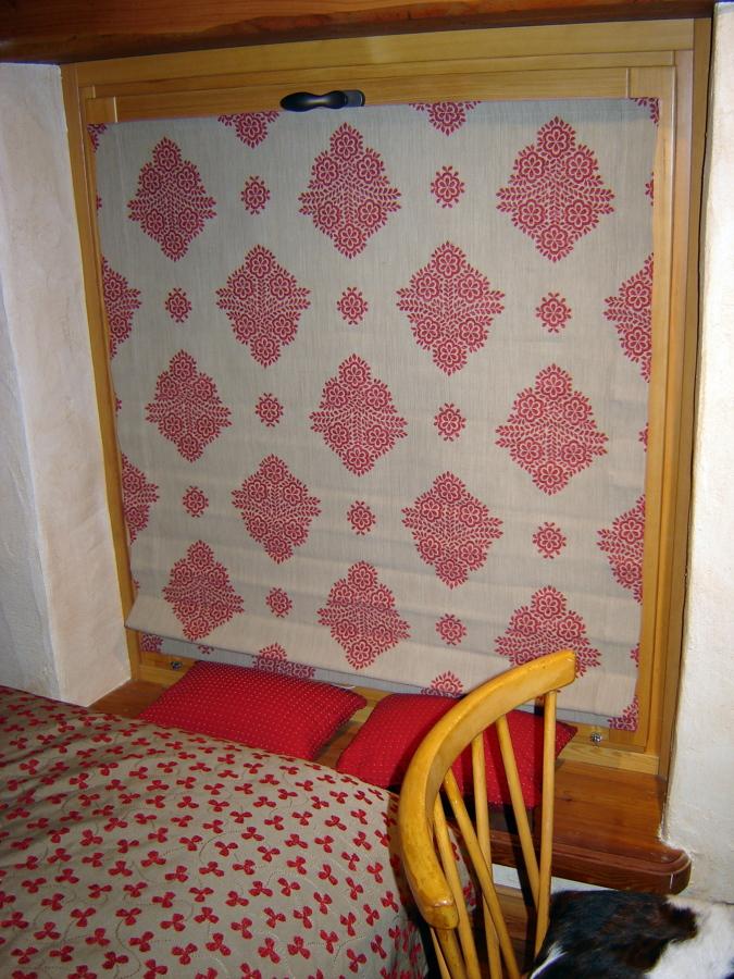 Progetto tendaggi e imbottiti chalet idee articoli - Tessuto per copriletto ...