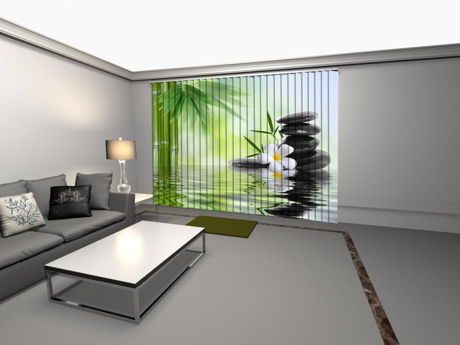 Tenda verticale con stampa dgitale feng shui