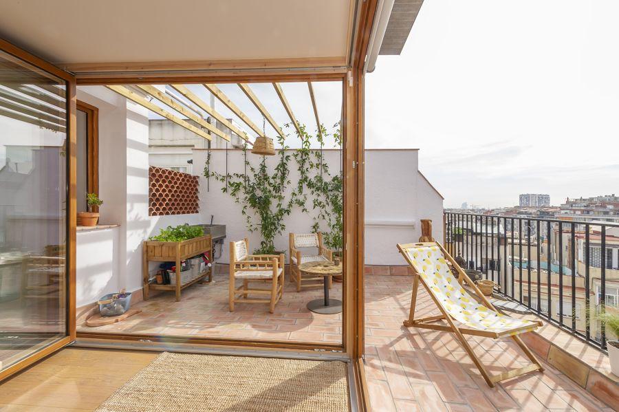 terrazza con patio