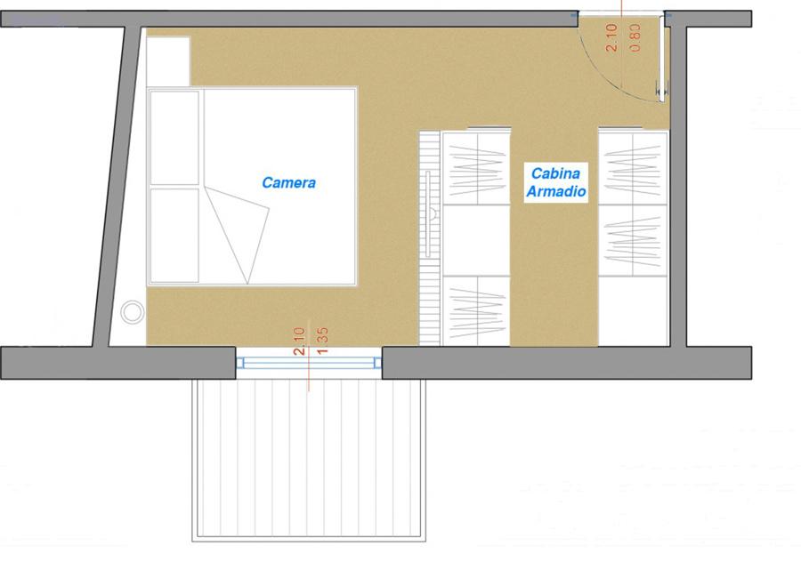Come arredare una stanza irregolare idee mobili - Sansevieria pianta in camera da letto ...