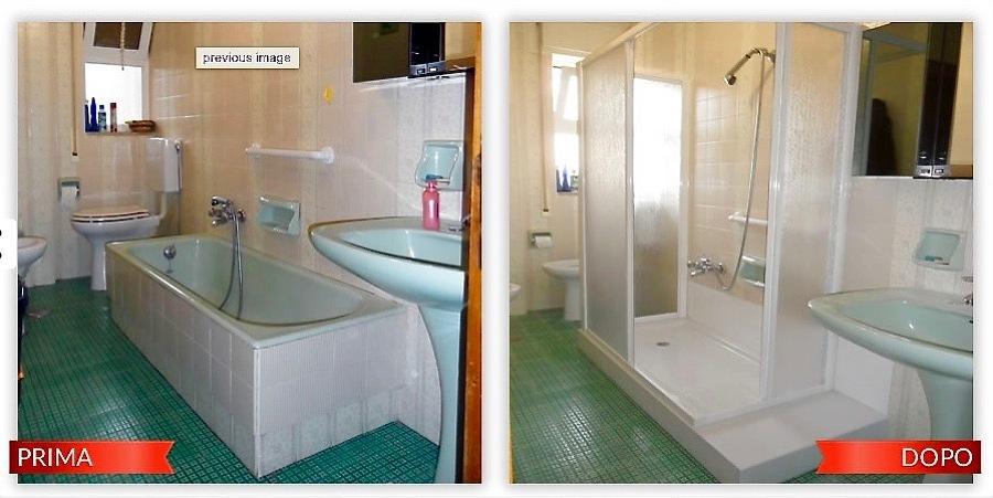 Trasformazione da vasca a doccia idee ristrutturazione bagni - Da doccia a vasca da bagno ...