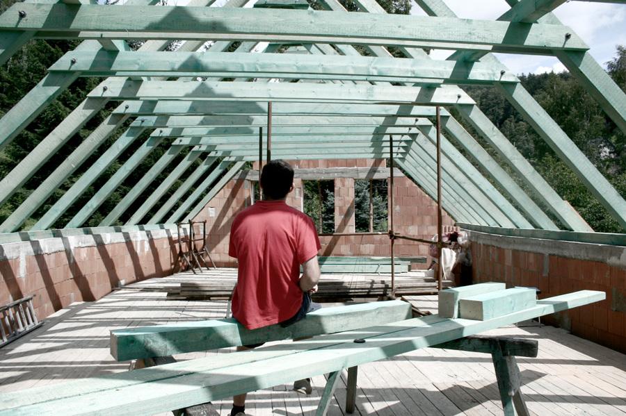 Travature della copertura in legno