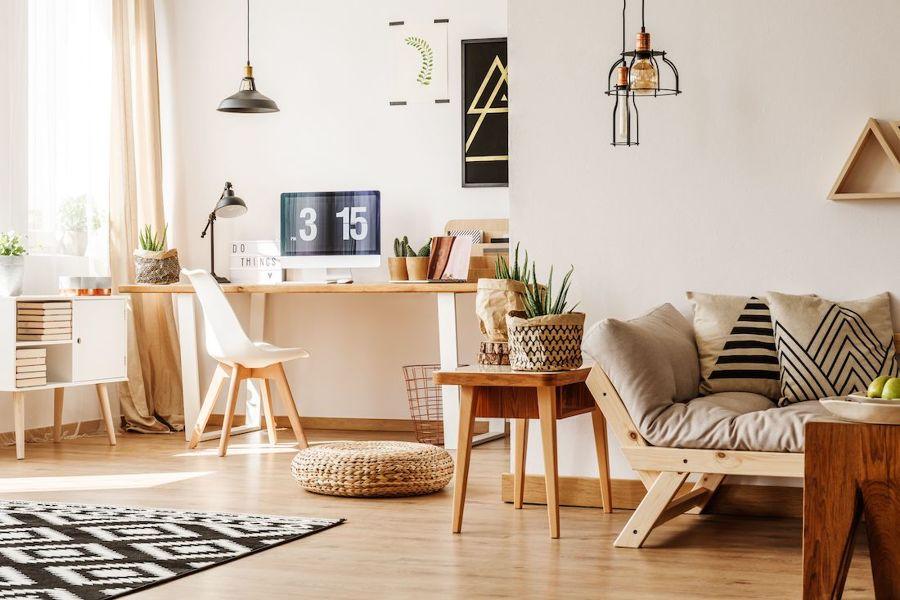 ufficio in soggiorno