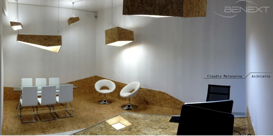 lighting design ufficio open space eco friendly idee