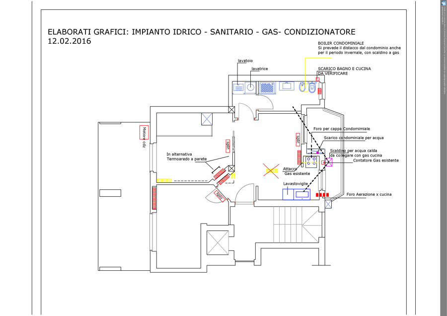 Progettazione e direzione lavori per ristrutturazione for Impianto idrico sanitario schema