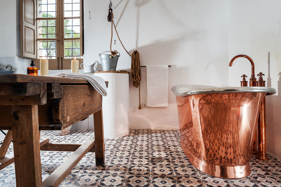 A tutto rame idee di arredo vintage chic idee interior designer - Tinozza da bagno ...
