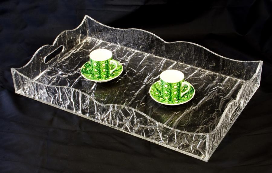 Vassoio in plexiglass