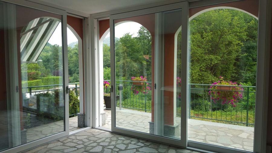 Veranda termica in alluminio