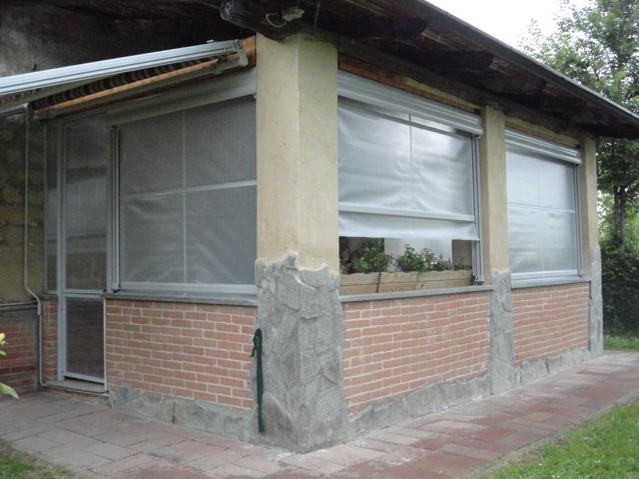 Progetto di chiusura portico idee tende da sole for Progetti di piani portico proiettati