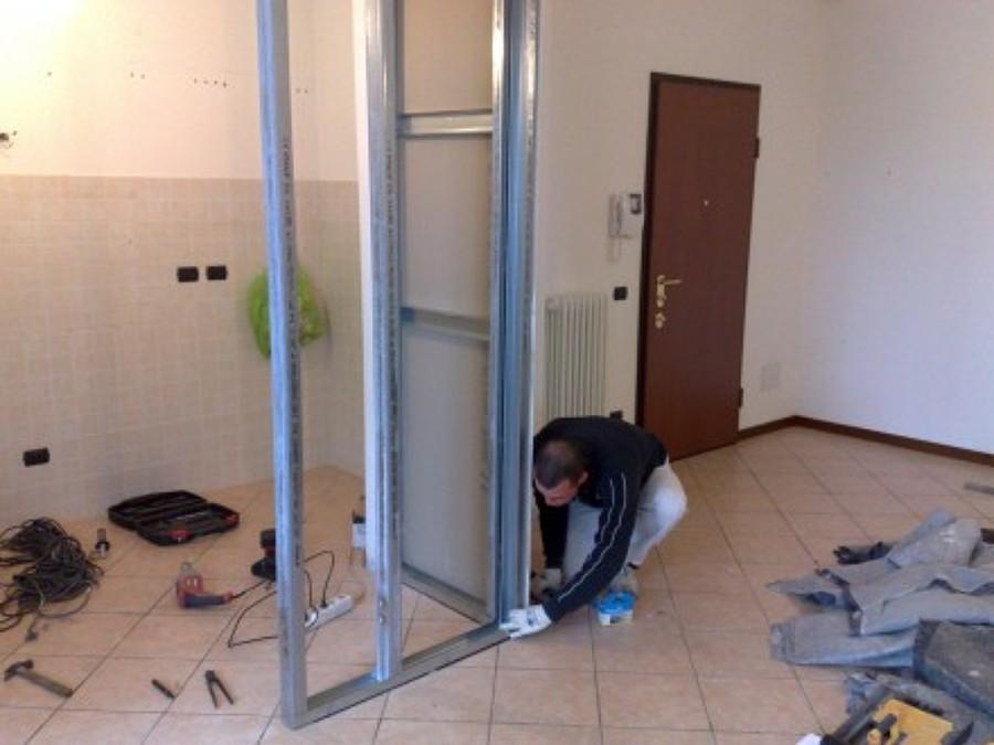 Parete Attrezzata In Cartongesso Ad Angolo : Progetto creazione parete ...