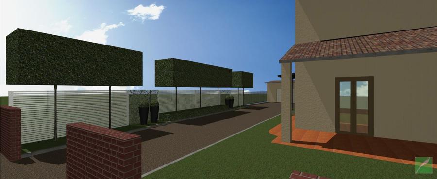 Vialetto di abitazione moderna privata idee giardinieri for Abitazione moderna