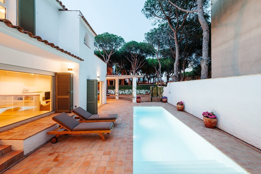 Villa con piscina esterna